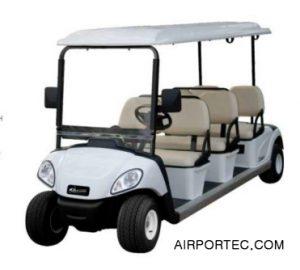 6 SEATER ELECTRIC SIGHTSEEING VEHICLE WHITE COLOR airportec.com jual berbagai peralatab bandara seperti kursi bandara dll