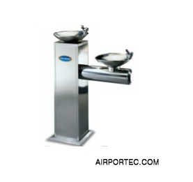 Double basin drinking water fountain AIRPORTEC.COM