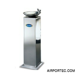 Single basin drinking water fountain airportec.com