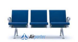 Bangku tunggu murah di surabaya 2691 PU 3 seater with 2 arms blue