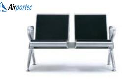 JUal kursi tunggu untuk bandara harga termurah 2695 2 seater with 2 arms Black
