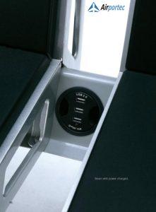 Kursi tunggu dengan fitur usb charger2695 Fitur USB