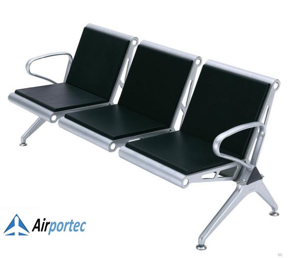 Kursi tunggu bandara model 2695 Tampak samping