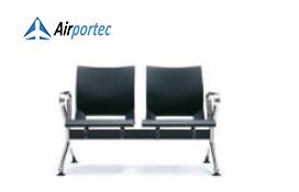 Harga kursi besi ruang tunggu B1 2 seater with 2 arms black