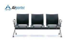 harga kursi aluminium ruang tunggu B1 3 seater with 2 arms black