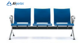 harga kursi ruang tunggu B1 3 seater with 2 arms blue