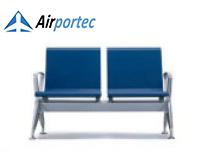 Jual kursi bandara harga termurah B2 2 seater with 2 arms blue