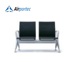 Jual bangku bandara murah B4 2 seater with 2 arms black