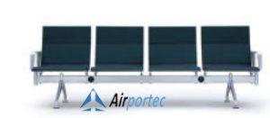 Harg kursi tunggu bandara di surabaya K1 4 seater with 2 arms gray