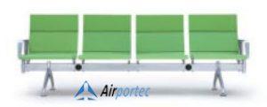 Jual kursi bandara 4 dudukan K1 4 seater with 2 arms green