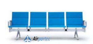 Jual kursi besi untuk bandar K1 4 seater with 2 arms light blue