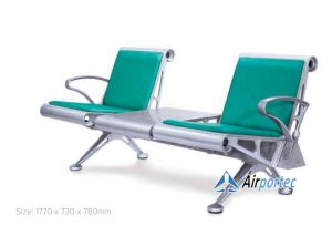 Jual kursi tunggu 2 dudukan dengan meja GC-908AB