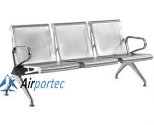 Kursi stainless steel untuk ruang tunggu bandara GCE101