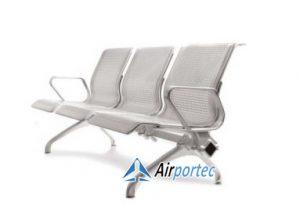 Kursi tunggu 3 dudukan aluminium