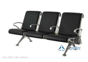 Kursi tunggu pasien 3 dudukan stainless steel