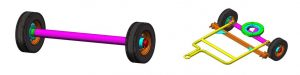 4. Front and rear wheels