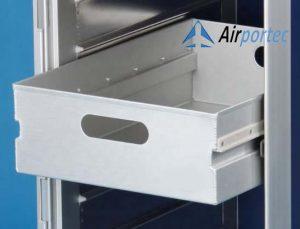 Beli troli Aluminium untuk makanan di pesawat GCATF-81D Tampak Laci
