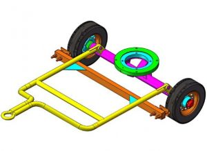 Towbar and brake mechanism