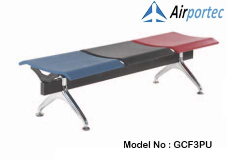 Beli kursi tunggu stainless 3 tempat duduk GCF003PU