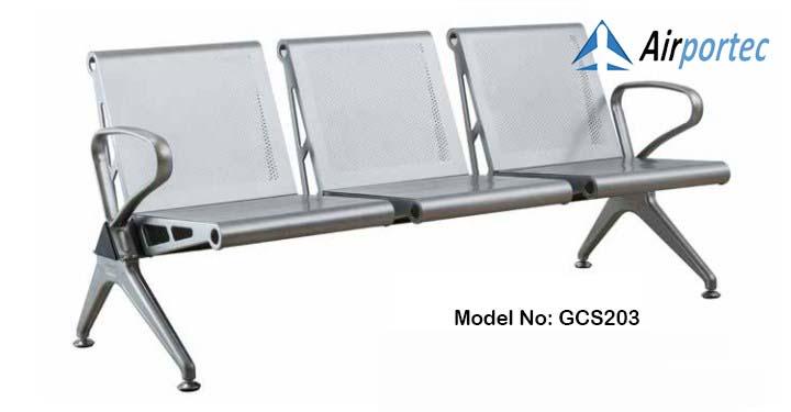 Jual bangku tunggu full stainless murah GCS203