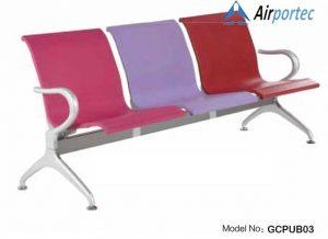 Kursi tunggu dengan 3 dudukan warna warni