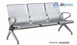 Kursi tunggu stainless steel murah GCSG203
