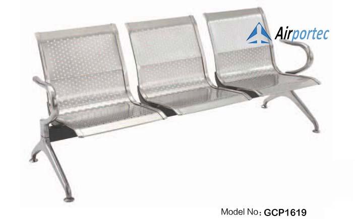 jual kursi tunggu bandara stainless GCP1619